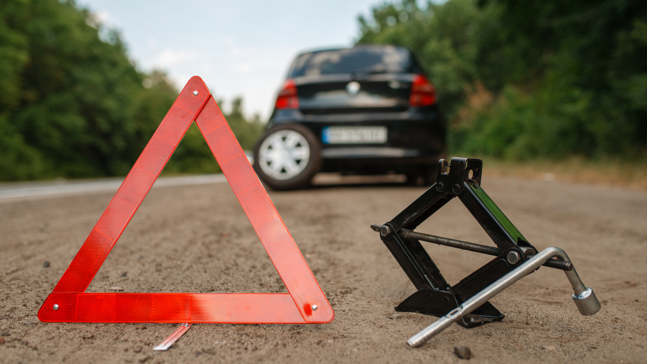 how to check to see if you have a punctured tyre